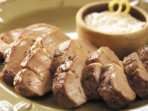 Pork Tenderloin with Horseradish Sauce