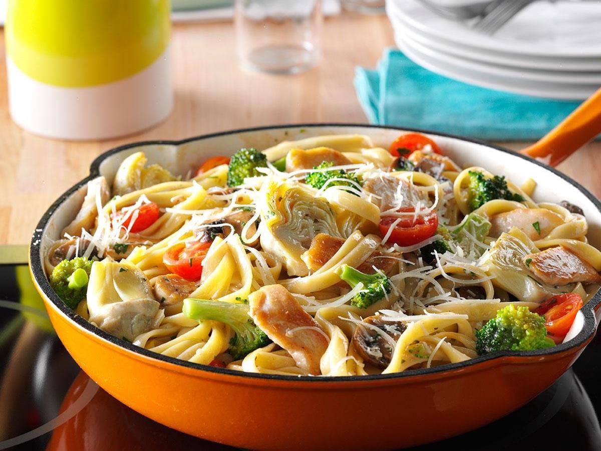 Artichoke Chicken Pasta