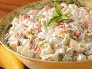 Waldorf Salad with Whipping Cream