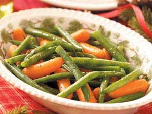 Glazed Carrots and Green Beans