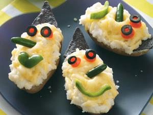 Wicked Witch Stuffed Potatoes