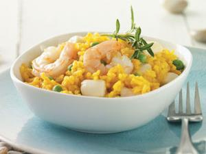 Scallops & Shrimp with Yellow Rice