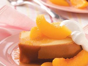 Pound Cake with Brandied Peach Sauce