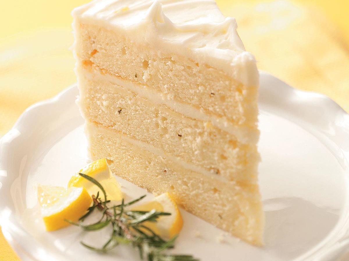 Lemon-Rosemary Layer Cake