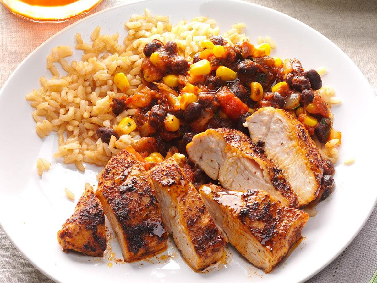 Black Bean Chicken With Rice
