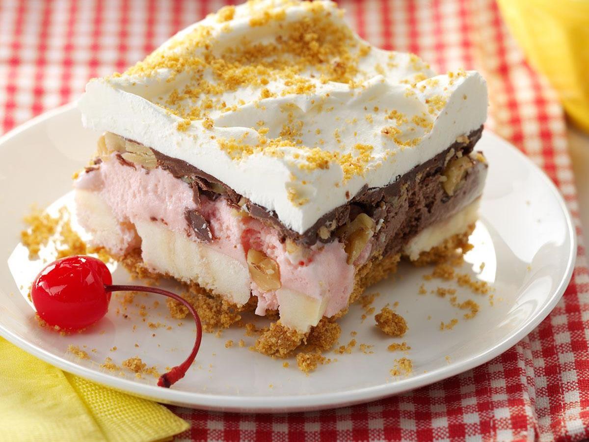 banana split cake for dieters