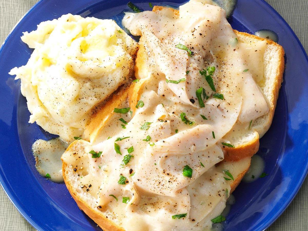 Blue Plate Open Faced Turkey Sandwich Recipe How To Make It Taste Of Home