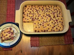 Cherry (or other fruit) Sponge Cake (Bublanina) Recipe