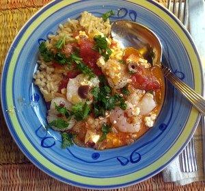 Greek Shrimp Tomatoes and Herbs with Feta Recipe